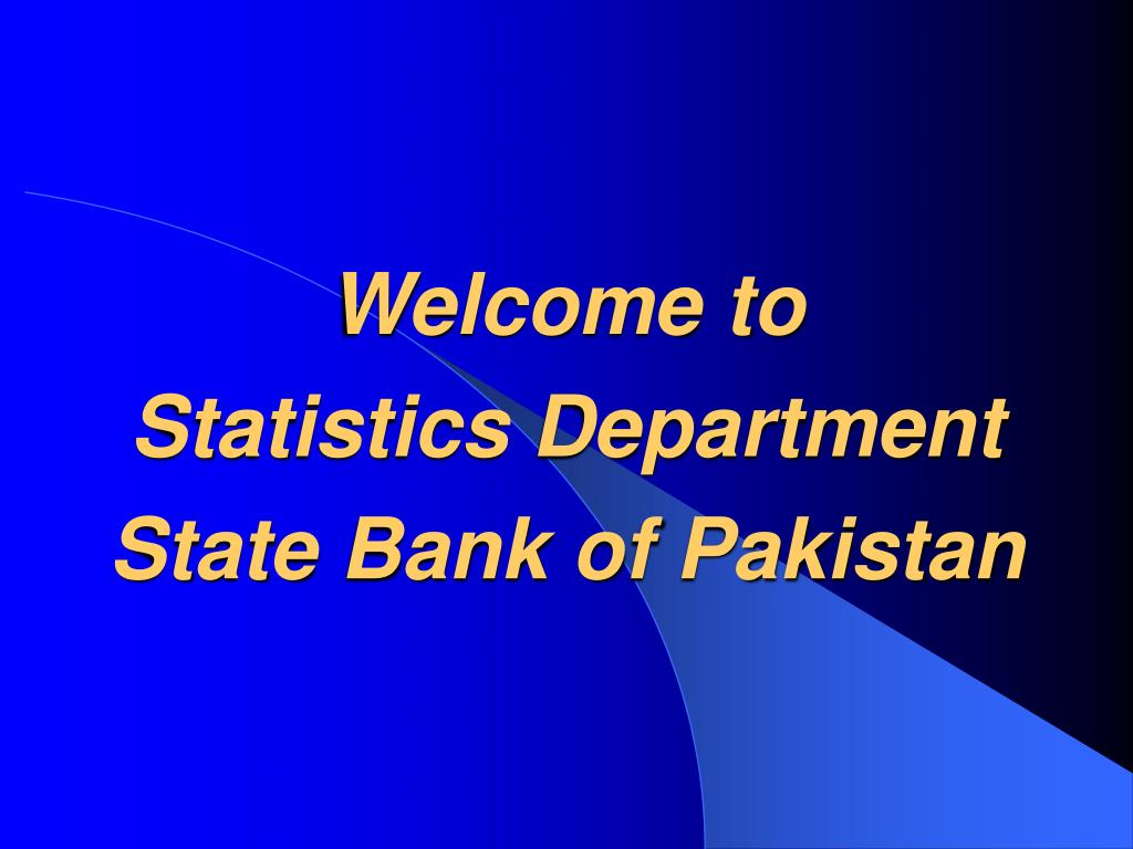 welcome to statistics department state bank of pakistan