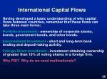 international capital flows
