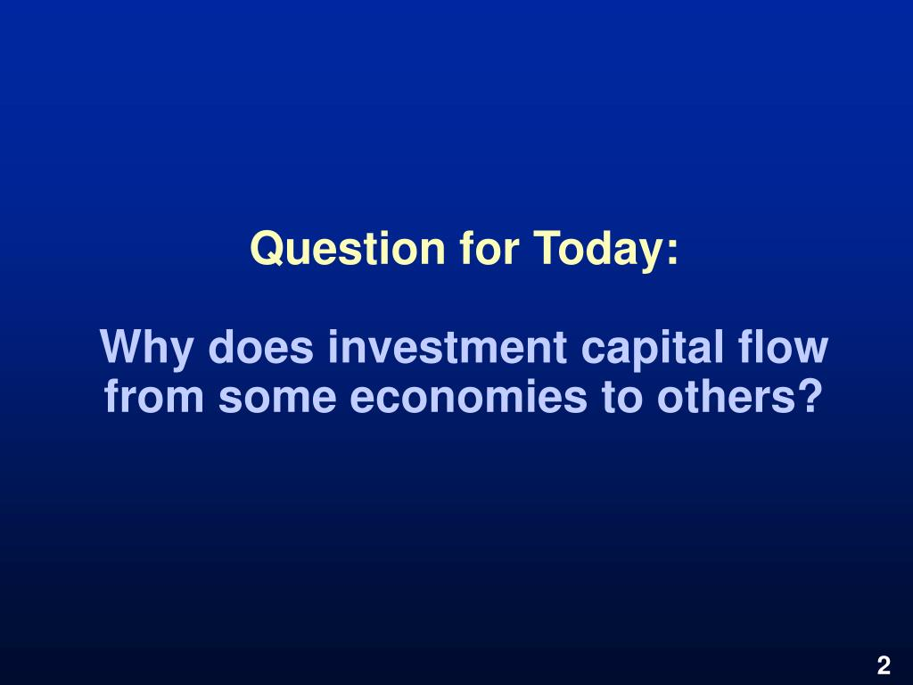 Question for Today:
