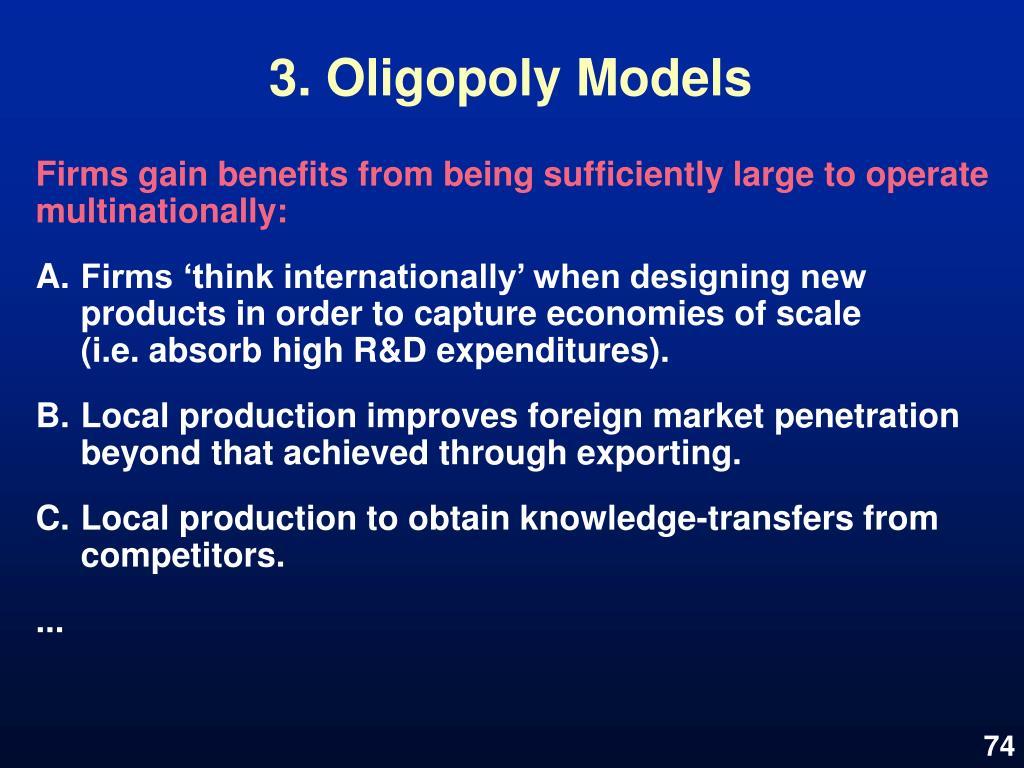 3. Oligopoly Models