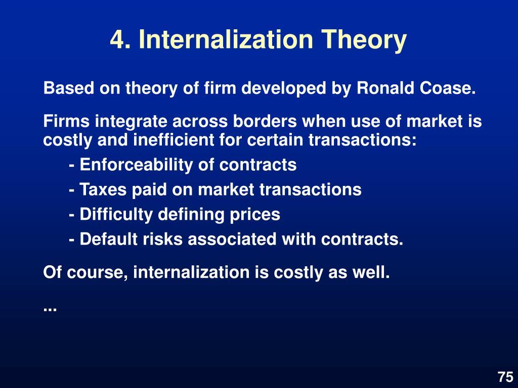 4. Internalization Theory