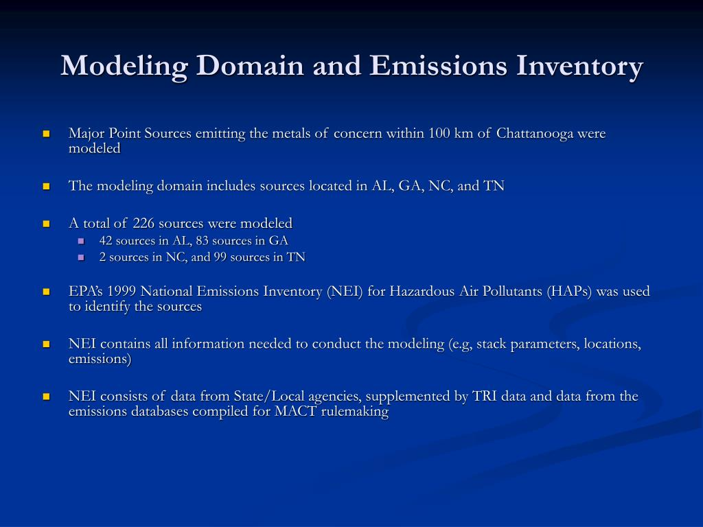 Modeling Domain and Emissions Inventory