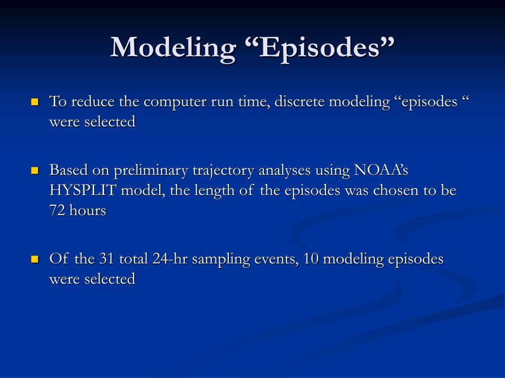 """Modeling """"Episodes"""""""