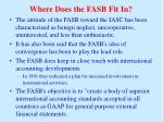 where does the fasb fit in