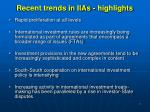 recent trends in iias highlights
