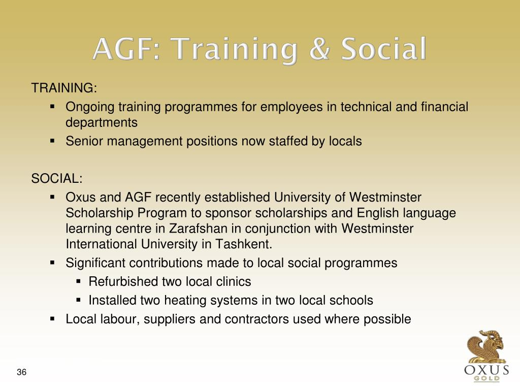 AGF: Training & Social