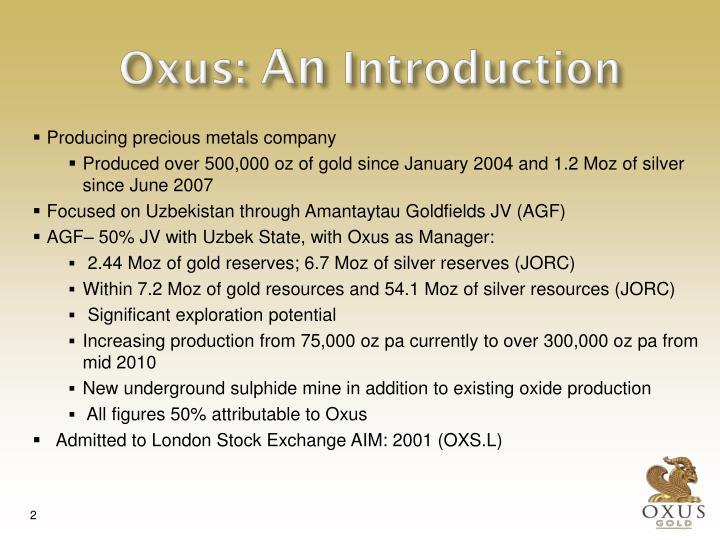 Oxus an introduction
