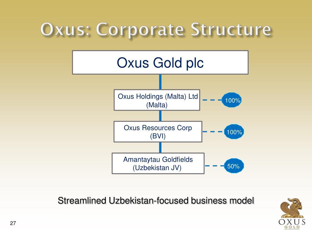 Oxus: Corporate Structure