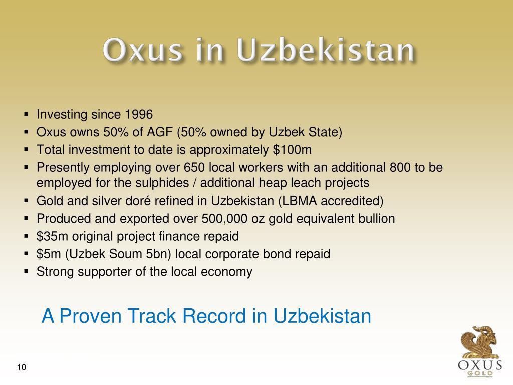 Oxus in Uzbekistan