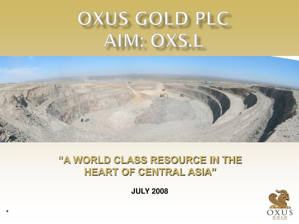 OXUS GOLD PLC