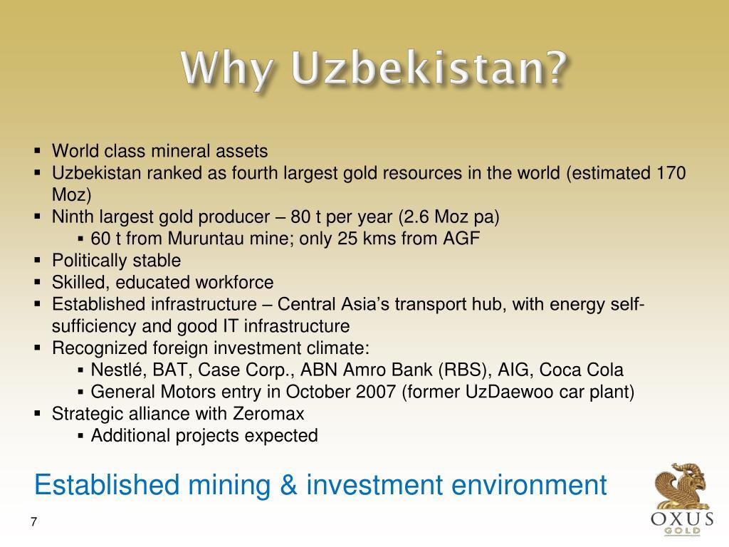 Why Uzbekistan?