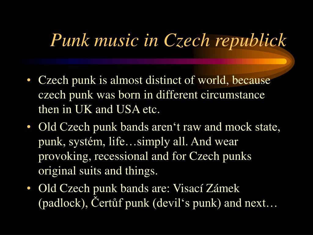 Punk music in Czech republick