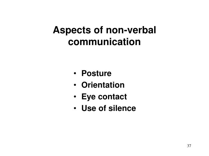 communication verbal non verbal aspects Video created by essec business school for the course international and cross-cultural negotiation in this module we focus your attention on different aspects of communication, both.
