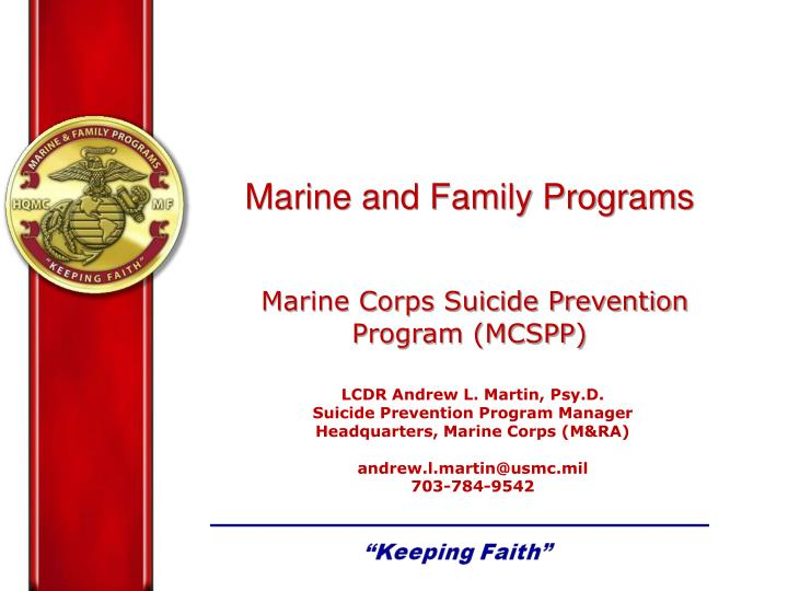 marine corps powerpoint template - ppt marine and family programs marine corps suicide