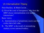 2 internalization theory