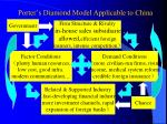 porter s diamond model applicable to china