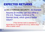 expected returns22