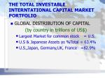 the total investable interntational capital market portfolio3