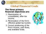 global financial goals
