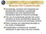 reasons for countertrade