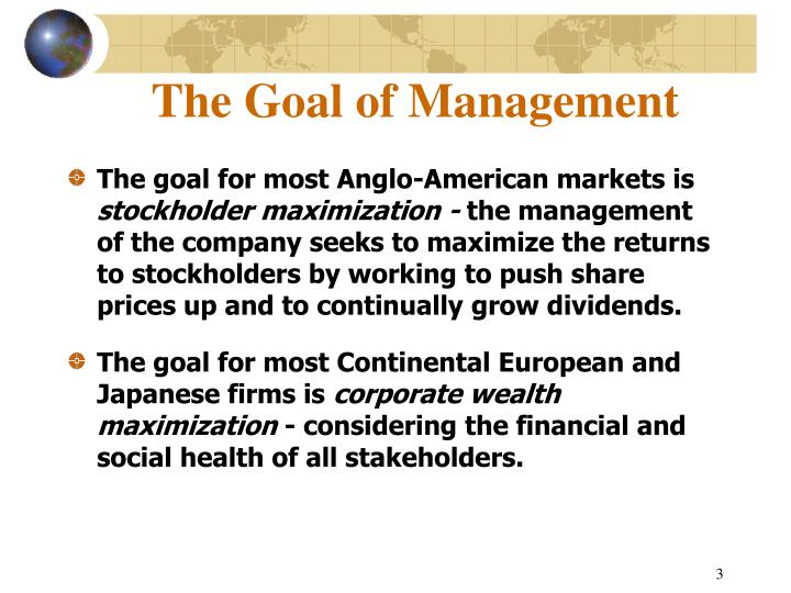 The goal of management