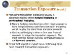 transaction exposure cont