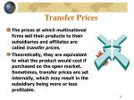 transfer prices