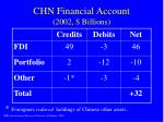 chn financial account 2002 billions