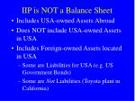 iip is not a balance sheet