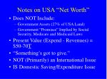 notes on usa net worth