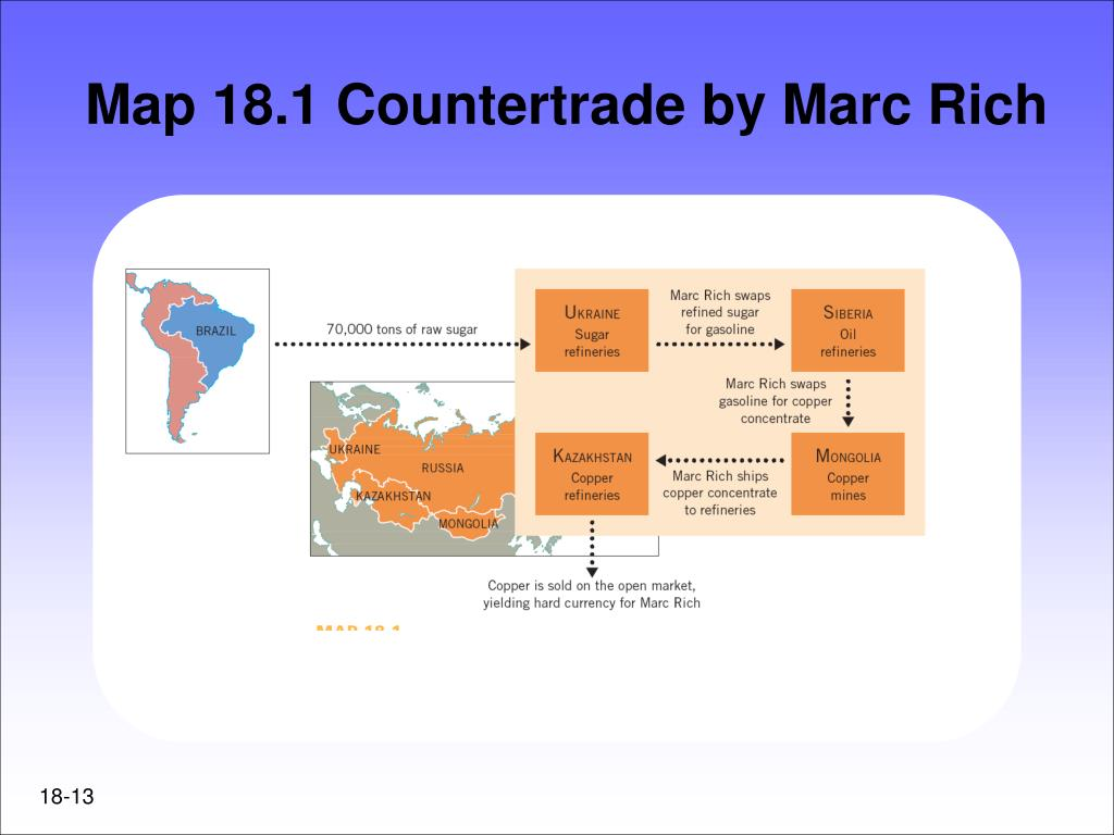 Map 18.1 Countertrade by Marc Rich