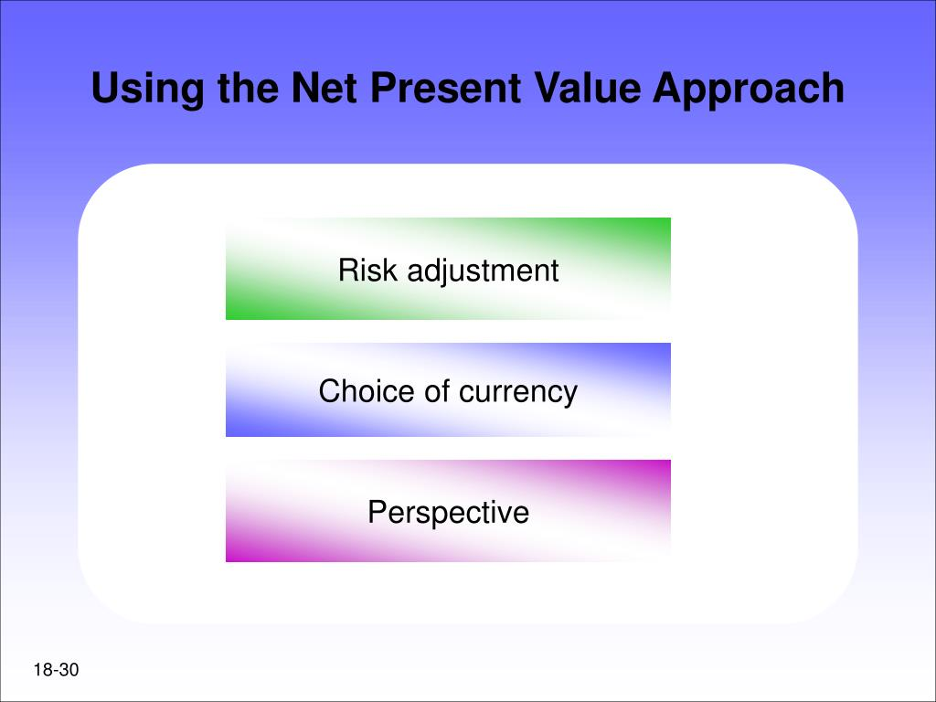 Using the Net Present Value Approach
