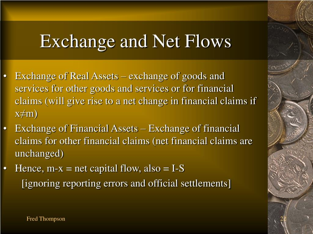 Exchange and Net Flows