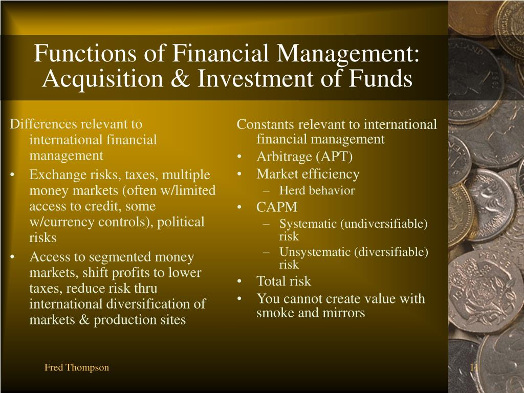 Differences relevant to international financial management
