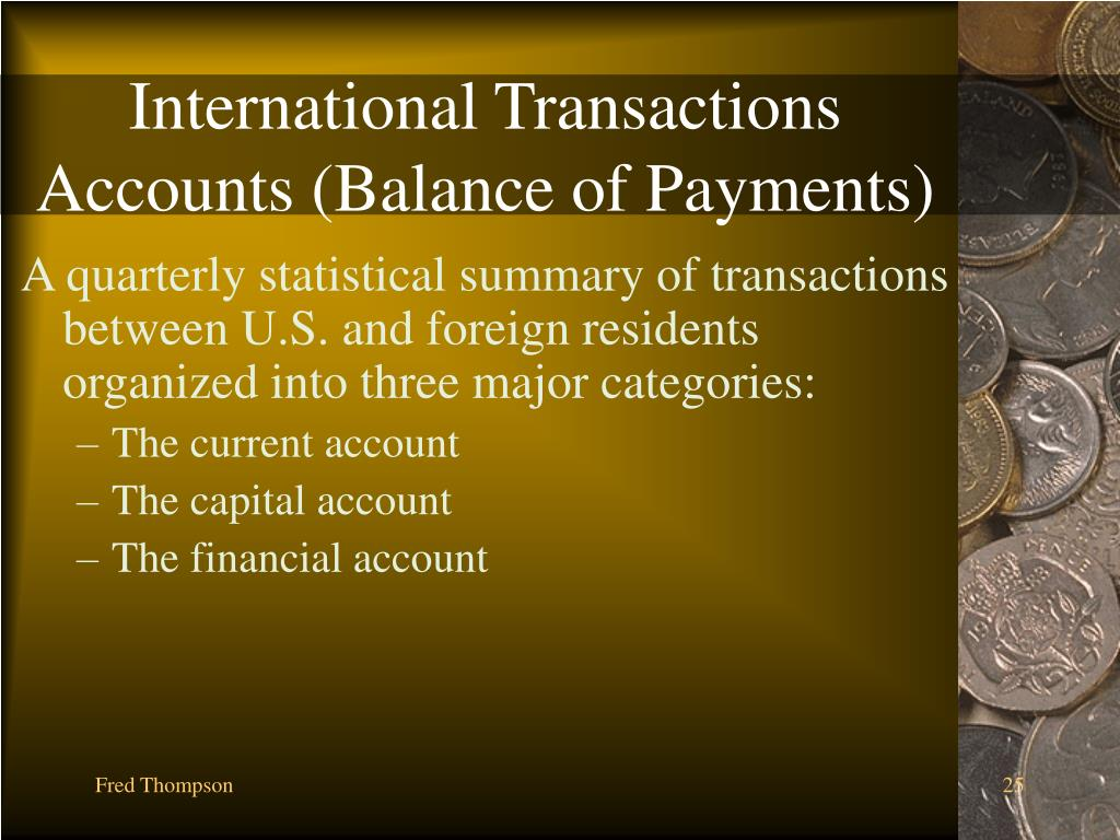 International Transactions Accounts (Balance of Payments)
