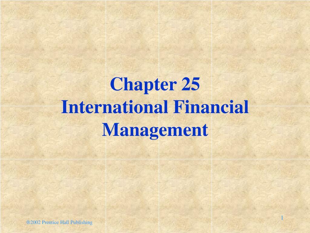 chapter 25 international financial management l.
