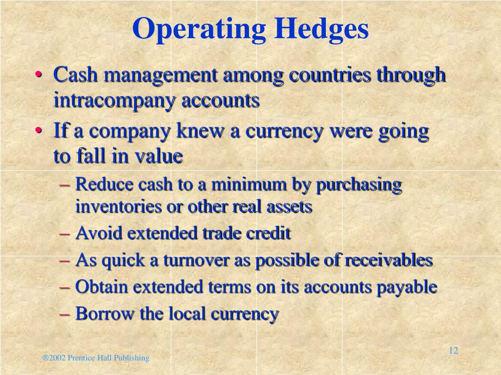 Operating Hedges