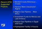 recent opic supported projects
