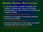 absolute relative risk aversion