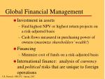 global financial management