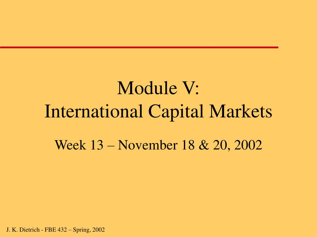 module v international capital markets l.