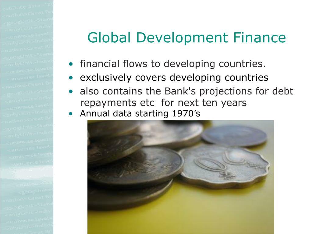 Global Development Finance