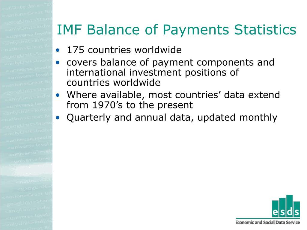 IMF Balance of Payments Statistics