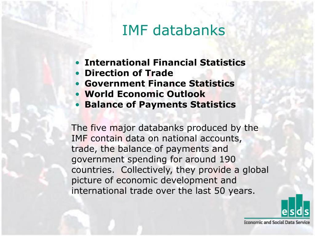 IMF databanks