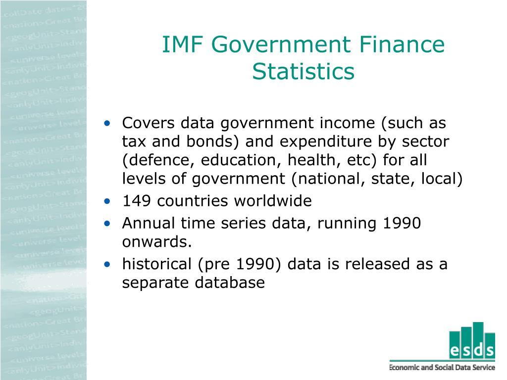 IMF Government Finance Statistics