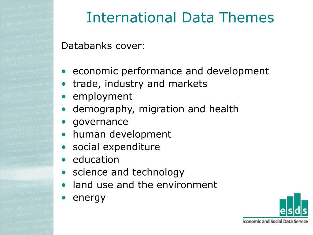 International Data Themes