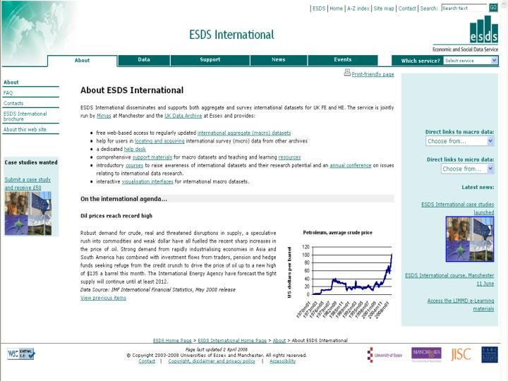 Introduction to esds international aggregate databanks