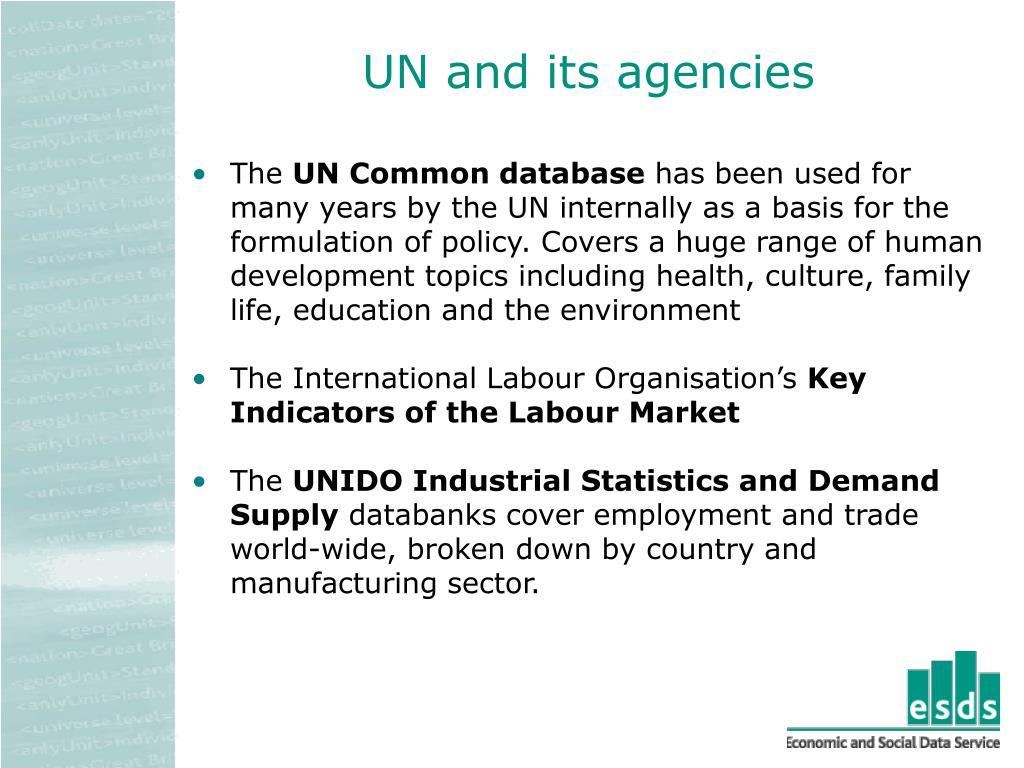 UN and its agencies