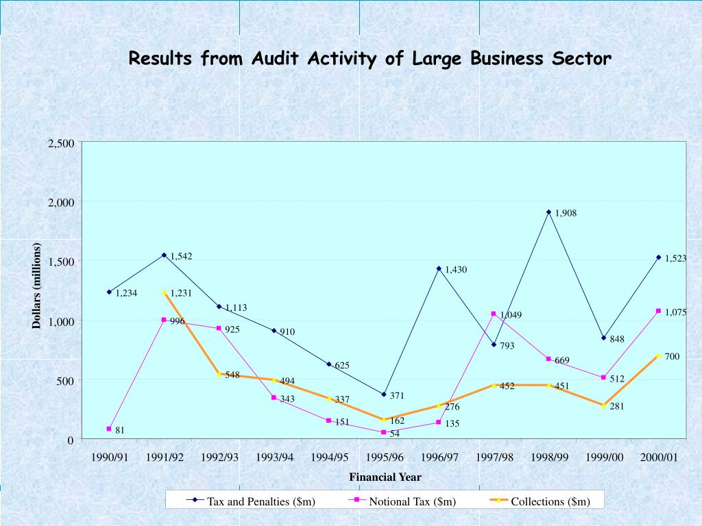 Results from Audit Activity of Large Business Sector