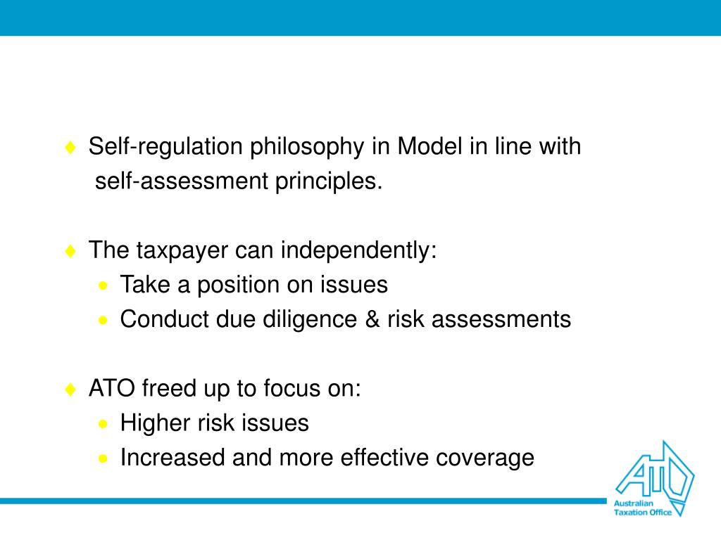 Self-regulation philosophy in Model in line with